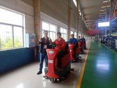 湖南长沙知名汽车生产车间选用了大型驾驶式洗地机